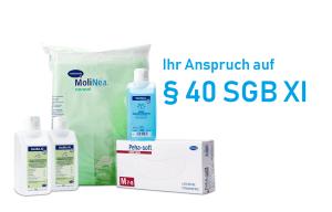 Pflegehilfsmittel zum Verbrauch - kostenfreier Anspruch auf bis zu 40 Euro monatlich - Pflegebox bestellen